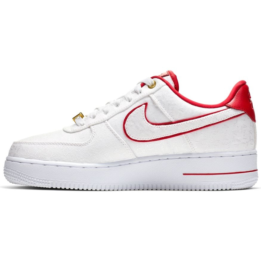 NIKE AIR FORCE 1 FEMME '07 LUX - WHT/RED