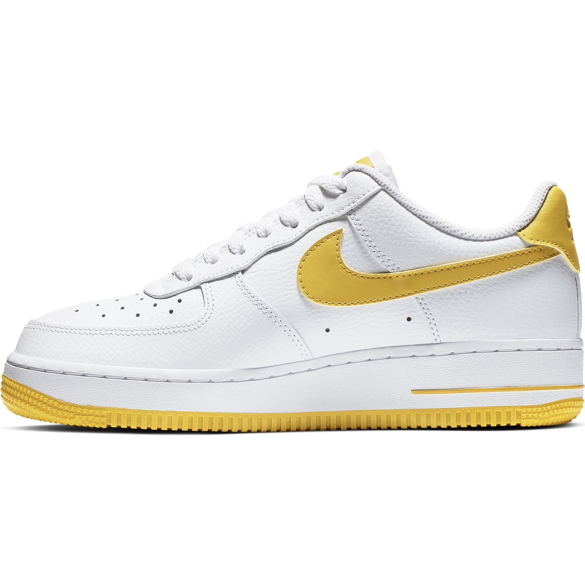 NIKE AIR FORCE 1 WOMENS WHTYELLOW | Basket Connection