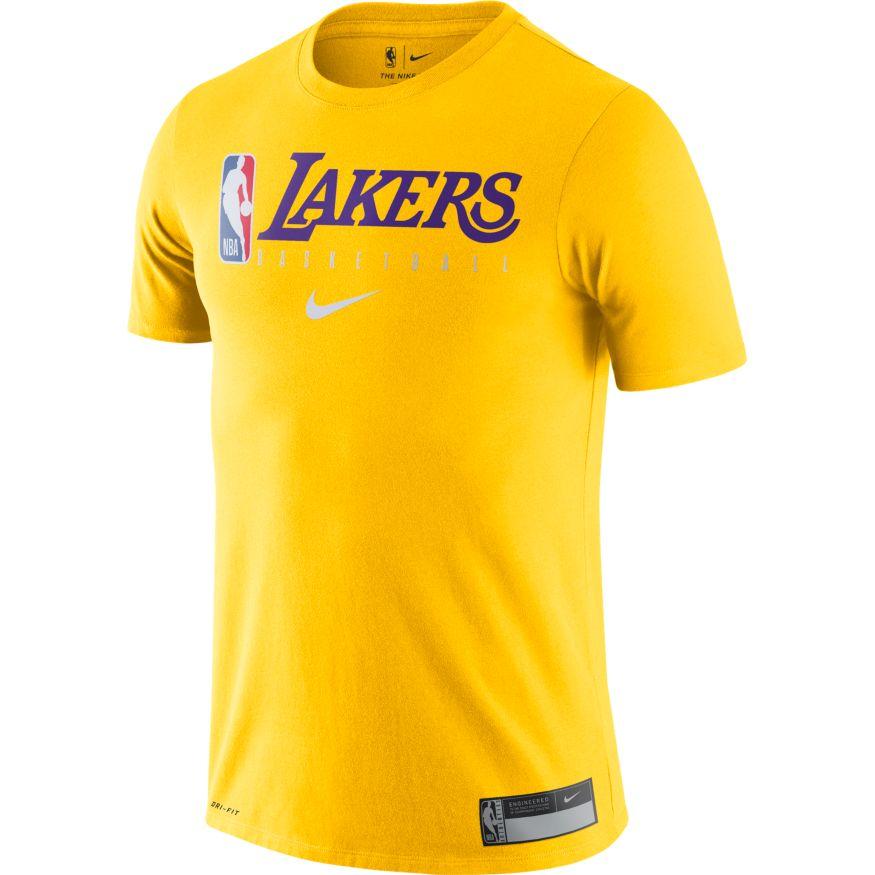T SHIRT NIKE NBA PRACTICE GX LOS ANGELES LAKERS