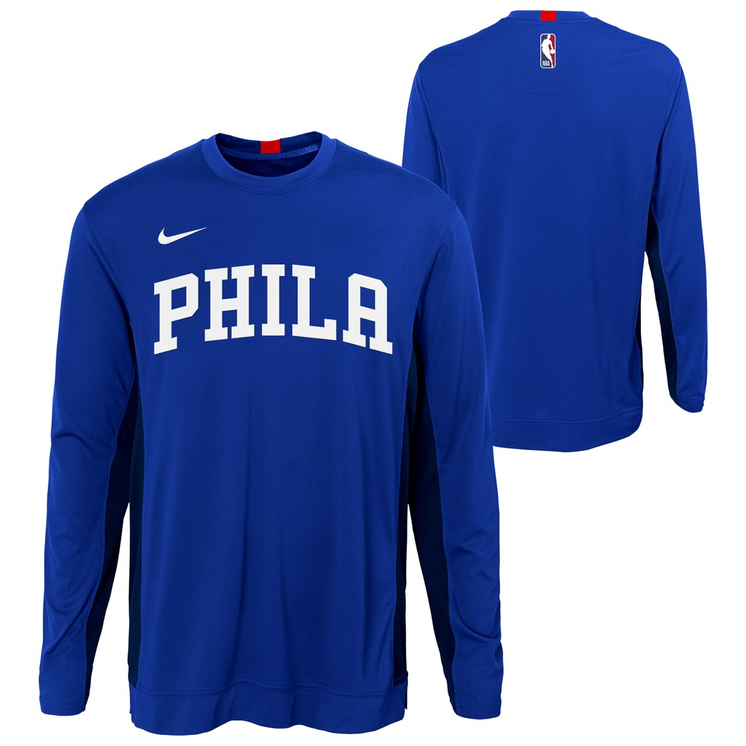 T SHIRT MANCHES LONGUES NIKE NBA ENFANT TOP SHOOTER PHILADELPHIE SIXERS
