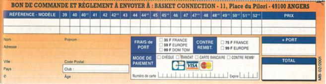 Bon de commande pour les premiers pas de Basket Connection